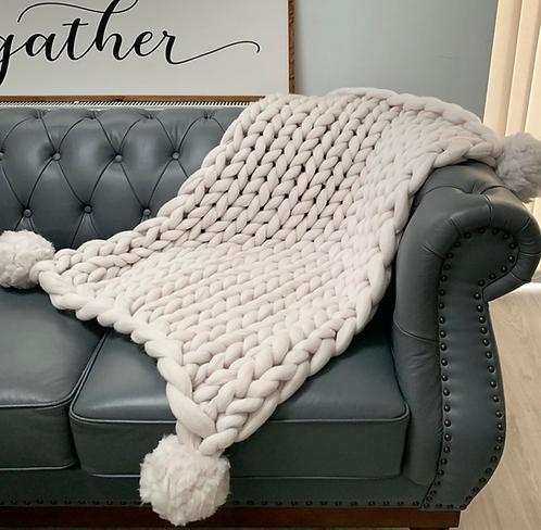 Merino Baby Pom-Pom Blanket