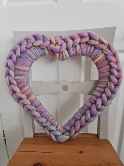 Unicorn Large Heart Wreath