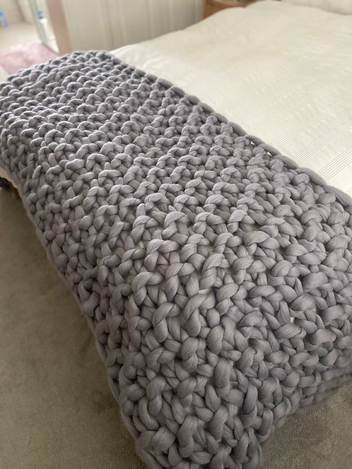 Make Your Own XL Bed Blanket in the colour and stitch of choice