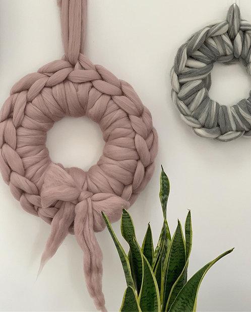 Mink Chunky Knit Wreath