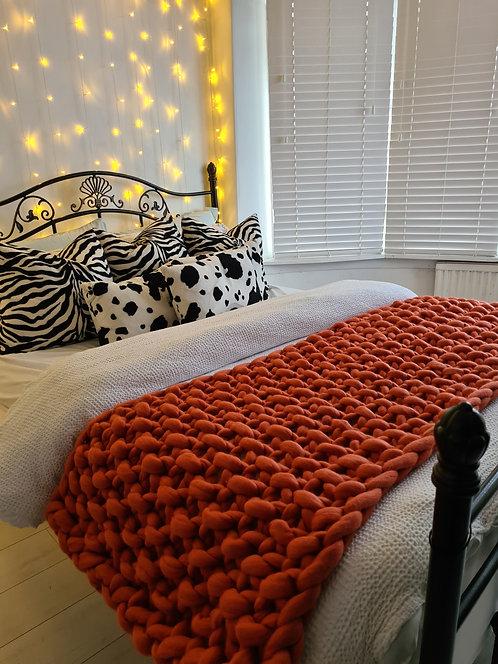 Cinnamon Valencia Bed Blanket