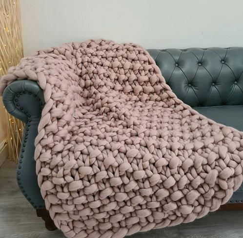 Mink Valencia Sofa Blanket or Bed Blanket