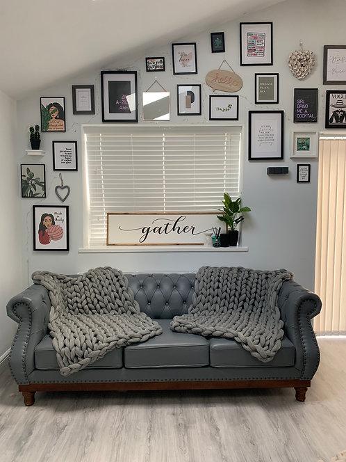 Natural Grey Blanket