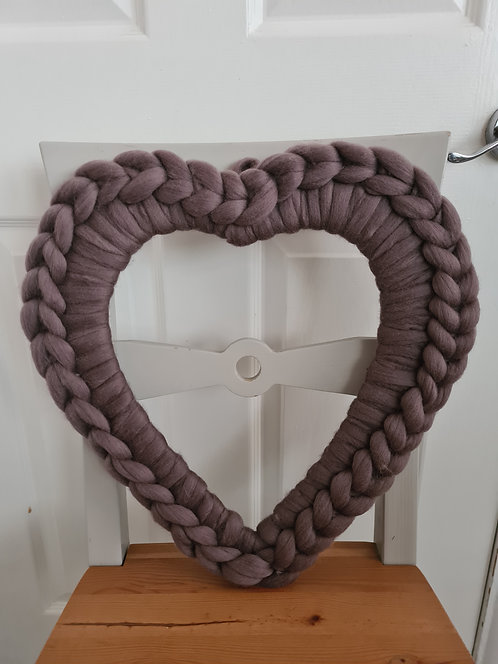 Pewter Large Heart Wreath