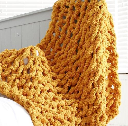 Mustard Chenille Blanket