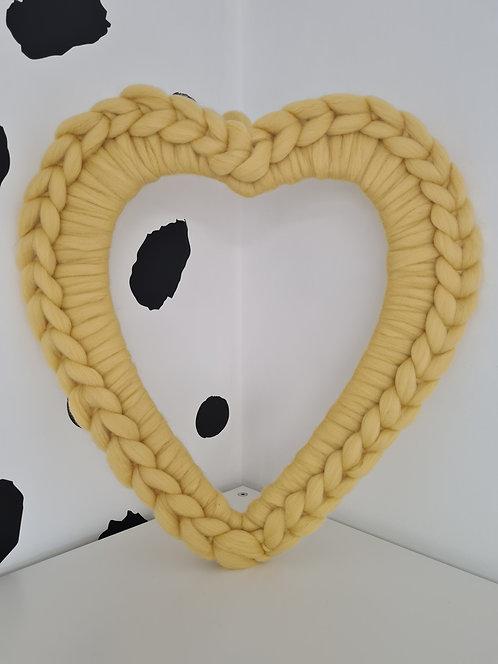 40cm Catkin Heart Wreath