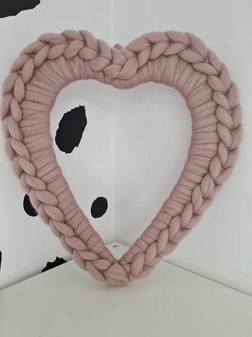 40cm Mink Heart Wreath