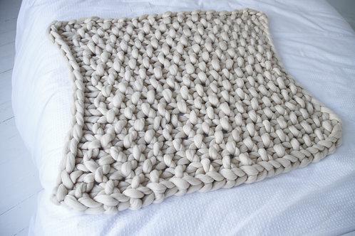 Merino Baby Blanket in Sandstone