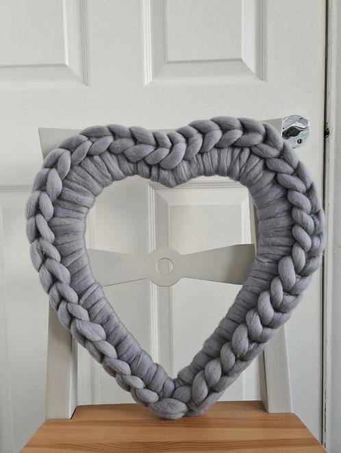40cm Ash Heart Wreath