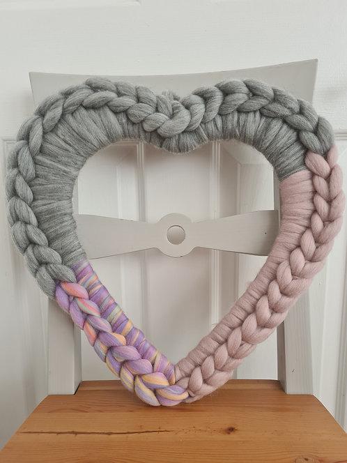 40cm Unicorn Inspired Heart Wreath