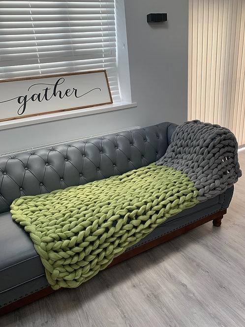 Sage & Natural Grey Blanket