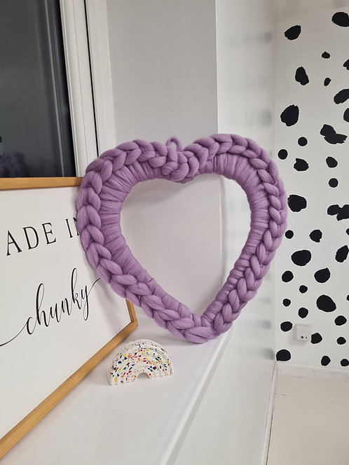 Large Heart Wreath in Lavender