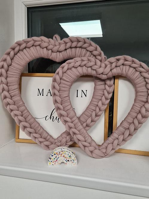 Heart Wreaths in Mink