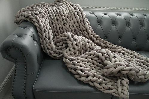 Dove Grey 'Get Stuffed' Blanket