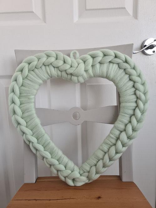 40cm Peppermint  Heart Wreath