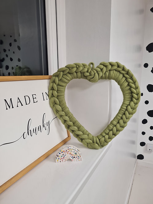 Large Heart Wreath in Sage