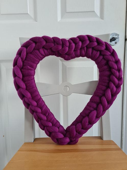 40cm Damson Heart Wreath