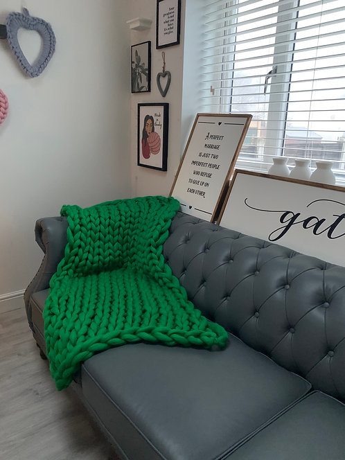 Kailey Blanket in Emerald Green