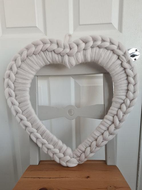 Heart Wreaths in Pearl