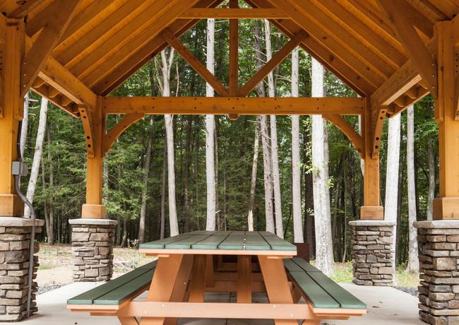 14'x24' Alpine Cedar Wood Pavilion,  Cus