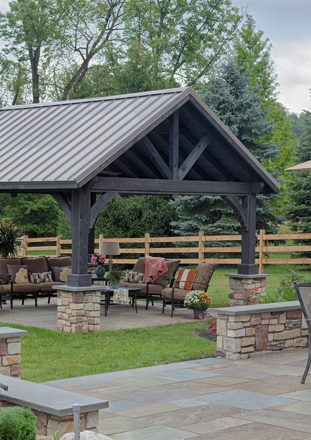 14'x16' Alpine Cedar Wood Pavilion, Cind