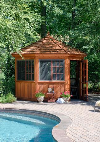 12' Tea House - Cedar Stain - Cedar Shak