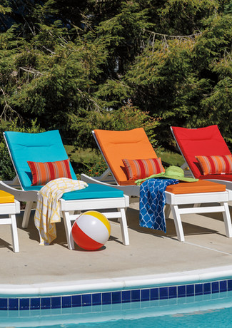 White Bayshore Chaise Lounges