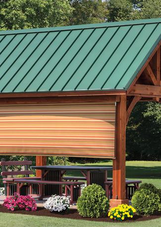 Island Stripe EZ Shade Side Curtain on 1