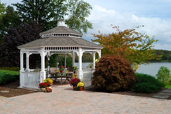 Gazebo, Backyard, Lakefront