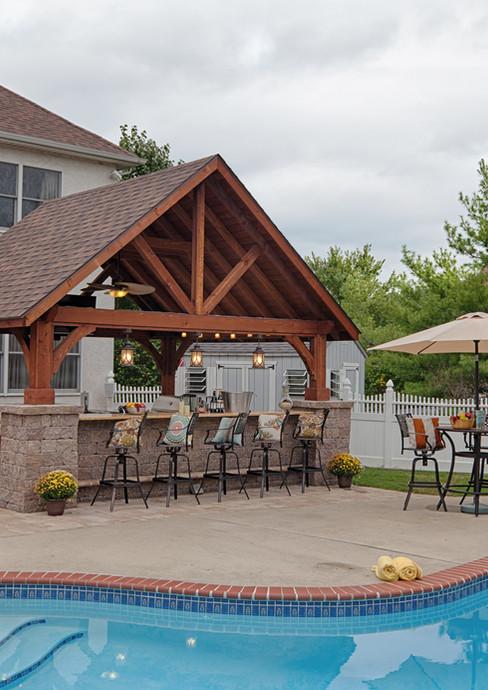 16'x14' Alpine Cedar Wood Pavilion, Cany