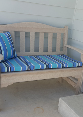 Birch 4' Garden Bench With Dolce Oasis Cushion