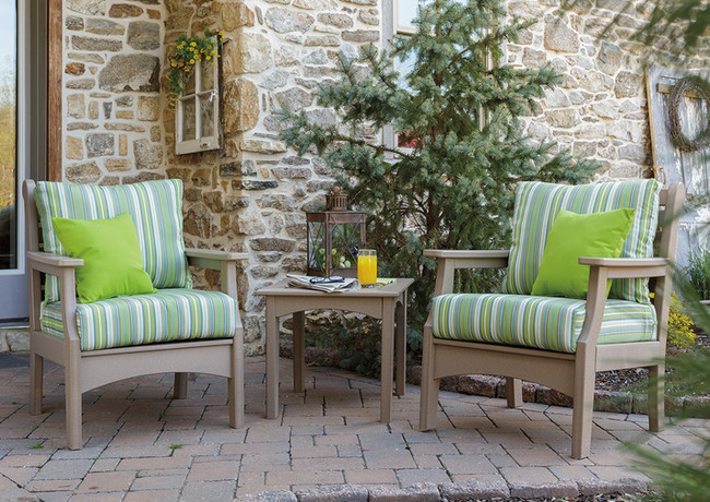 Weatherwood Duralux Club Chairs With Foster Surfside Cushions