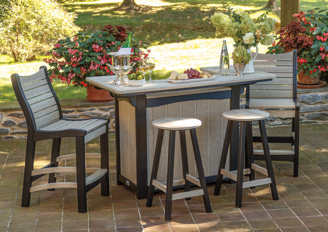 Birch On Black Bar, Bayshore Tables & Bar Stools
