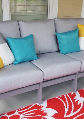 Gray Bayshore Sofa With Canvas Granite Cushions