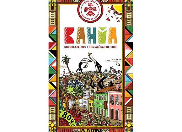 Chocolate quetzal Bahia - 80% cacau & açúcar de coco - 80g