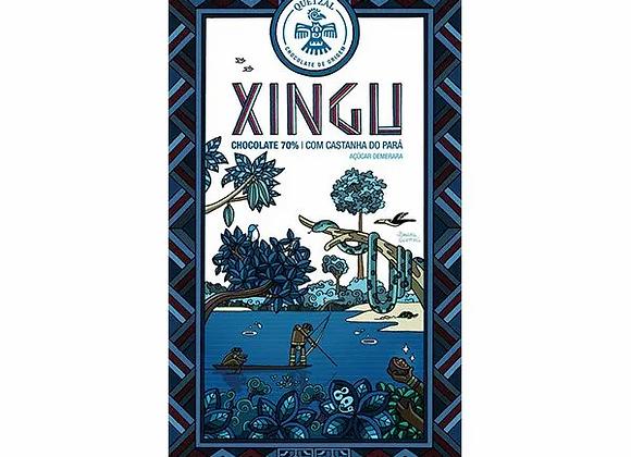 Chocolate quetzal Xingu - cacau 70% & castanha do pará