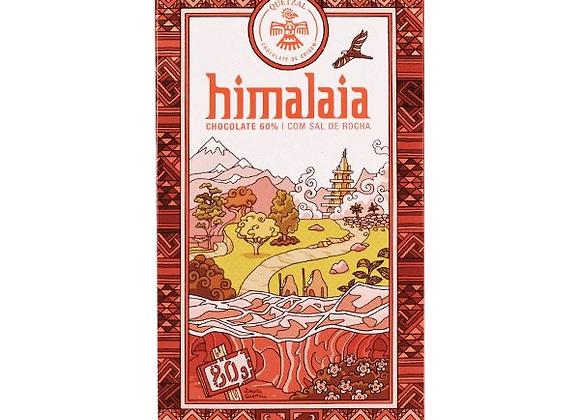 Chocolate quetzal Himalaia - cacau 60% & sal rosa - 80g