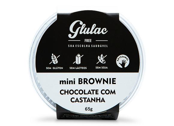 Mini brownie de chocolate com castanhas Glulac - 65g
