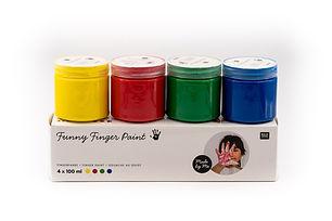 la bêtiserie - lot de 4 pots de gouache pour peinture et loisirs créatifs enfants