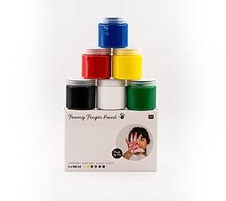 la bêtiserie - lot de 6 pots de gouache pour peinture et loisirs créatifs enfants