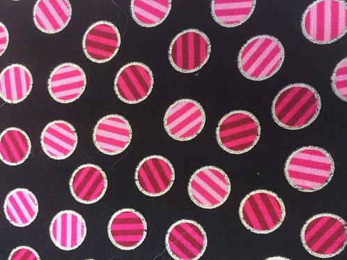Black Ditzy Dots