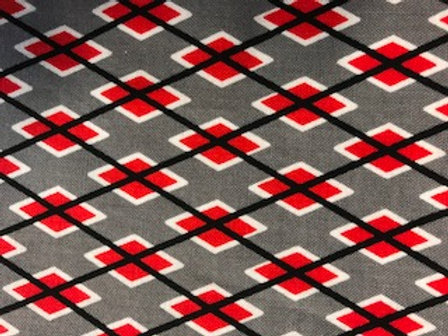 Red Gray Argyle