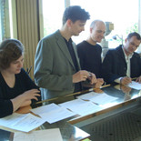 Virgin Classics, signing contract, Mai 2005