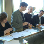 Virgin Classics, signing contract, Mai 2005