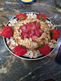 strawberry almond gallette