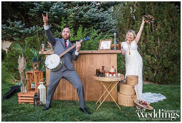 From the Real Weddings Magazine stylized shoot