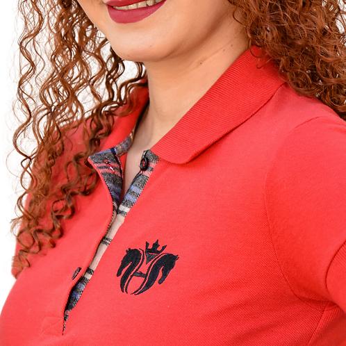 Camisa Polo Feminina - Vermelha