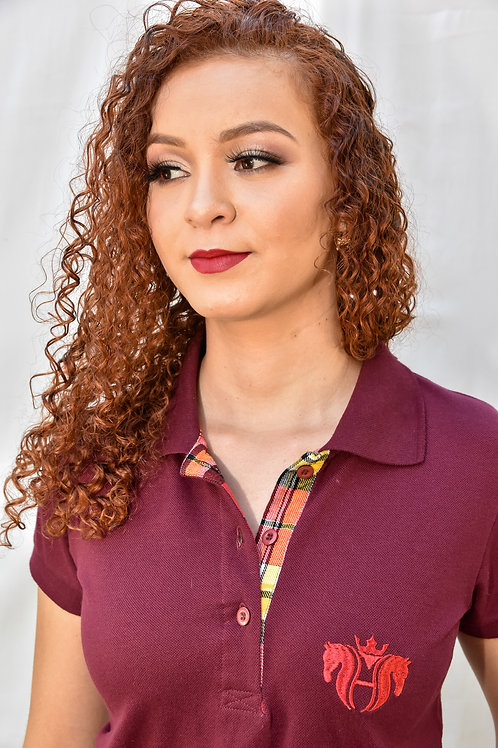 Camisa Polo Feminina - Bordo
