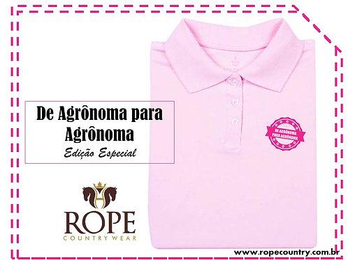"""Camisa Polo """"De Agronoma Para Agronoma """" Edição Especial"""