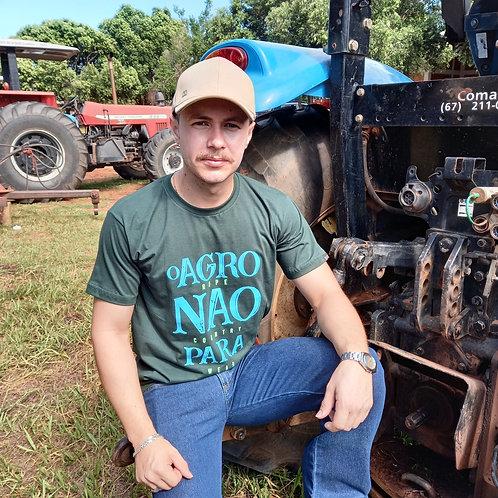 """T-shirt Masc. """"O Agro Não Para"""""""